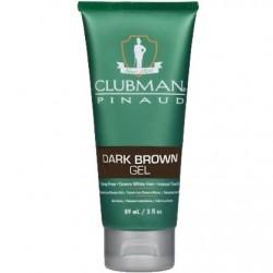 Gel Dark Brown żel koloryzujący włosy ciemnobrązowy 89 ml Clubman Pinaud