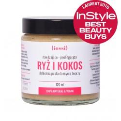 Iossi Ryż i Kokos, peelingująca pasta do mycia twarzy, 120ml