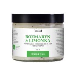 Iossi Rozmaryn i Limonka, cukrowy peeling do ciała, 250ml