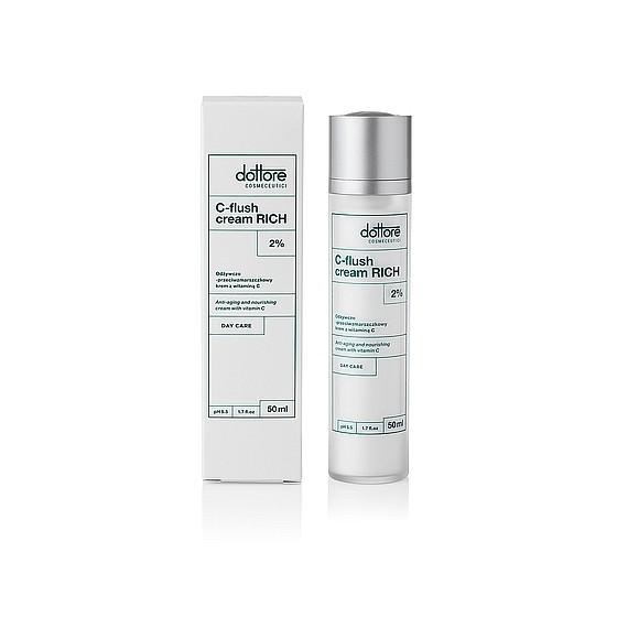 DOTTORE C-Flush Cream Rich-Odżywczo/przeciwzmarszczkowy krem z witaminą C dla suchej skóry,50 ml