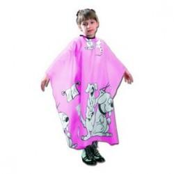 Fox Basic Line, peleryna dla dzieci w kolorze różowym, antystatycznaczna