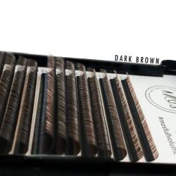 Rzęsy MO'S Mink DARK BROWN Lashes 0,07 D MIX
