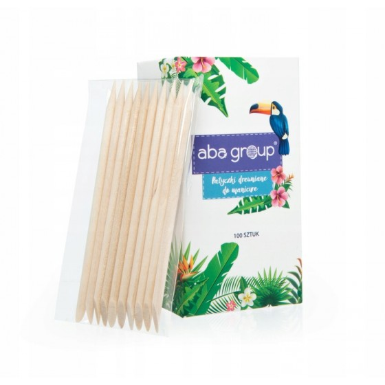 Patyczki drewniane do manicure Aba Group (100 szt.) - 9,5 cm