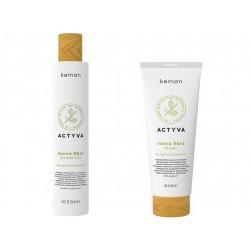 Kemon Actyva Nuova Fibra zestaw szampon 250ml + maska 200ml