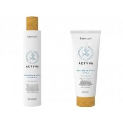 Kemon Actyva Nutrizione Ricca zestaw szampon 250ml + maska 200ml