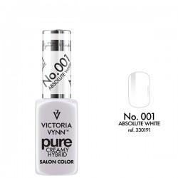 VICTORIA VYNN Kremowy Lakier Hybrydowy PURE kolor:001 ABSOLUTE WHITE
