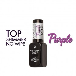 Gel Polish Top No Wipe Shimmer PURPLE Victoria Vynn – 8 ml