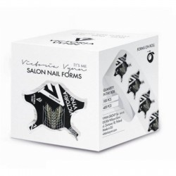 VICTORIA VYNN FORMY DO PAZNOKCI CZARNE SALON NAIL FORMS 400szt