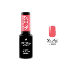 Lakier hybrydowy GEL POLISH COLOR Coral Sunset nr 037 VICTORIA VYNN - 8 ml