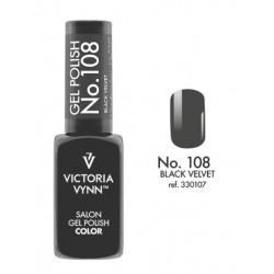Lakier hybrydowy GEL POLISH COLOR Black Velvet nr 108 VICTORIA VYNN - 8 ml