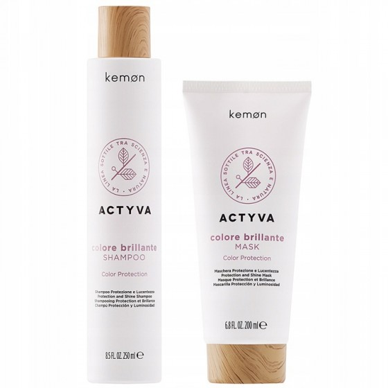 Kemon Actyva Color Brillante Szampon 250ml Maska 200ml