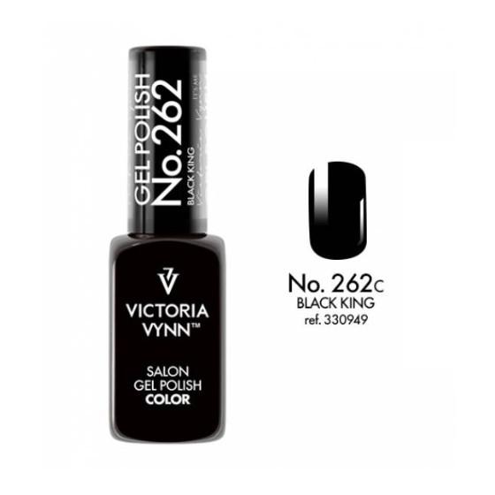 Lakier hybrydowy Gel Polish Color BLACK KING nr 262 VICTORIA VYNN - 8 ml NOWOŚĆ!