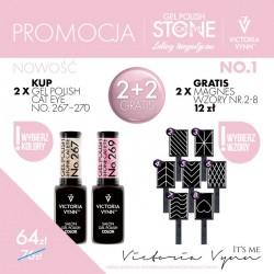 Victoria Vynn Zestaw promocyjny Stone Cat Eye 2 + 2 Gratis!