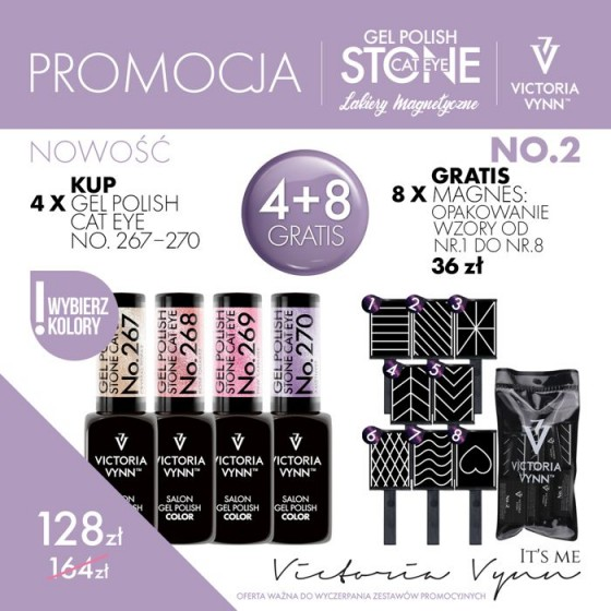 Victoria Vynn Zestaw promocyjny Stone Cat Eye 4 + 8 Gratis!