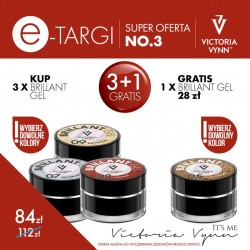 Victoria Vynn Zestaw promocyjny Brillant Gel 3 + 1 Gratis!