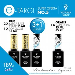 Victoria Vynn Zestaw promocyjny Mega Base i Top No Wipe Gloss 3 + 1 Gratis!