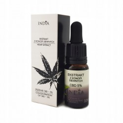 India Ekstrakt z konopi siewnej CBD 5% 10 ml