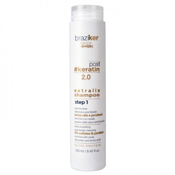 KYO Braziker post keratin extralix - szampon po keratynowym prostowaniu 250ML