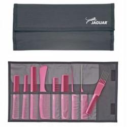 Jaguar A-line Pink, grzebienie w etui, 9 szt, różowe, ref. A599-5