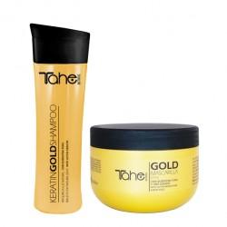 Tahe Gold Finishing set szampon 300ml + maska regenerujący 30ml
