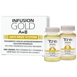TAHE Infusion Gold A+B Anti-Frizz System Kuracja w Ampułkach Przeciw Puszeniu 2x10ml