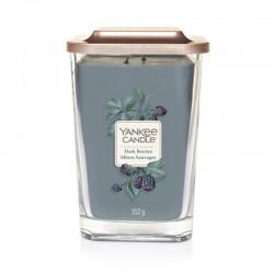 Yankee Candle Dark Berries Duża kwadratowa świeca z dwoma knotami 552g