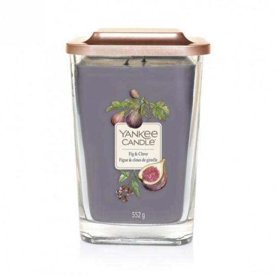 Yankee Candle Fig & Clove Duża kwadratowa świeca z dwoma knotami 552g