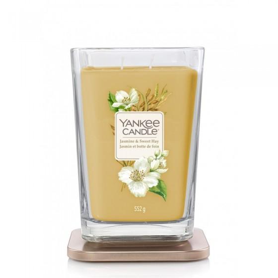 Jasmine & Sweet Hay - Yankee Candle Elevation - duża świeca zapachowa