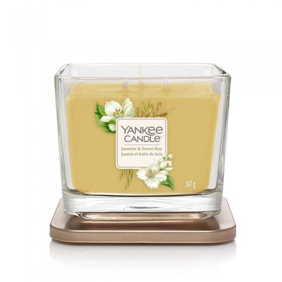 Jasmine & Sweet Hay - Yankee Candle Elevation - średnia świeca zapachowa