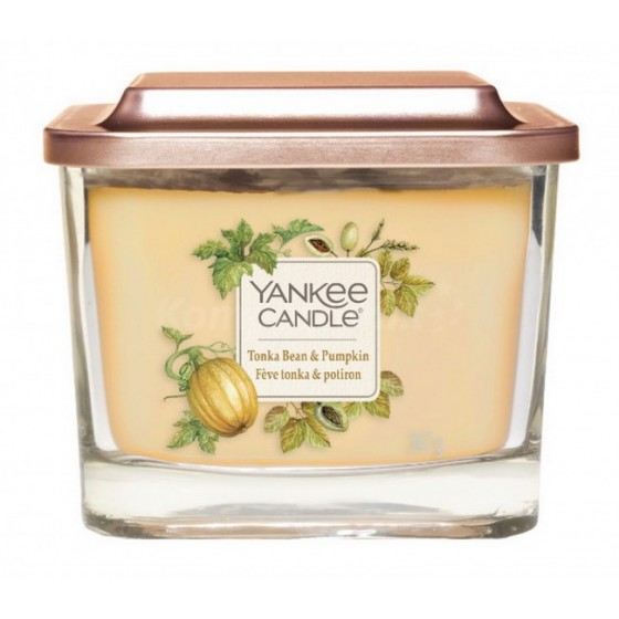 Yankee Candle Świeca zapachowa średnia kwadratowa Elevation Tonka bean & Pumpkin