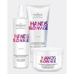 Farmona Zestaw Hands Slow Age peeling + serum + maska