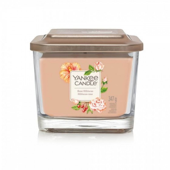 Yankee Candle Elevation Rose Hibiscus Średnia Świeca Zapachowa 347g