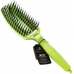 Olivia Garden Finger Brush Combo Medium Tropical Edition, Szczotka do Rozczesywania Włosów i Masażu, Włosie Dzika, Tropical Lime