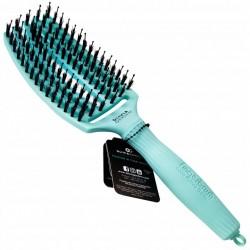 Olivia Garden Finger Brush Combo Medium Tropical Edition, Szczotka do Rozczesywania Włosów i Masażu, Włosie Dzika, Tropical Mint
