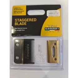 Gamma piu Blade Staggered Blade ostrze do maszynki Alpha, X-ergo