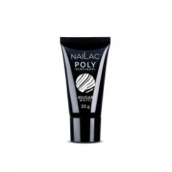 NAILAC Poly Acryl&Gel Sugar White 30g
